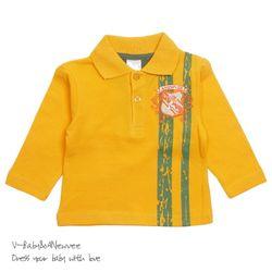 H-24331 Vintage Style 고급 PK Cotton 티셔츠 Yellow