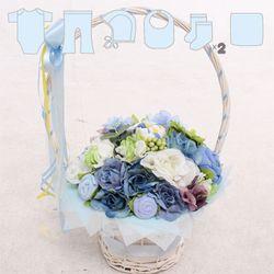 아기옷바구니 블루라지(Large)