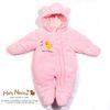 H-431 Cozy 프리미엄 극세사 방한 패딩 우주복 Pink