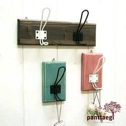 DIY 로프2단옷걸이 선반-대