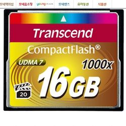 트랜샌드 CF메모리 1000배속 [16GB] 풀HD동영상 촬영지원 빠른연사 UDMA7 지원 DSLR 핸디캠