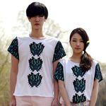 [10%▼] Fly Button (Aqua) T-shirt