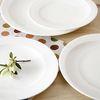 화이트 카빙 접시(6.5인치)