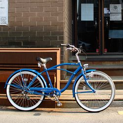 BUSKERS Classic 2013 Version Cruiser26 클래식[비치크루져] Shimano 6 speed Royal Blue+Tray Basket