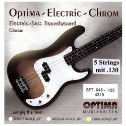 옵티마 Optima 베이스기타스트링 크롬-니켈 라운드와운드 4319B (045-130)