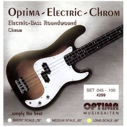 옵티마 Optima 베이스기타스트링 크롬-니켈 라운드와운드 4299 (045-100)