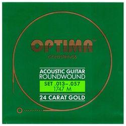 옵티마 Optima 어쿠스틱기타스트링 골드스트링 라운드와운드 1747M