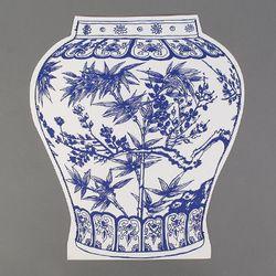 [클리어런스] Paper 2D vase_Bamboo (with sewing)