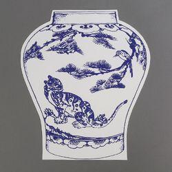 [클리어런스] Paper 2D vase_Tiger (with sewing)