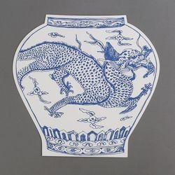 [클리어런스] Paper 2D vase_Dragon (with sewing)