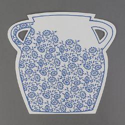 [클리어런스] Paper 2D vase_Modern vase A (with sewing)