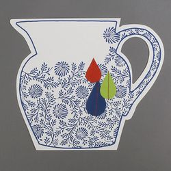 [클리어런스] Paper 2D vase_Modern vase B (with sewing)