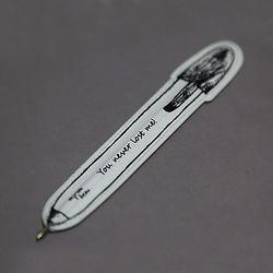 [클리어런스] Paper Ball Pen_04 (black)