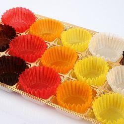 [미소짓는하루]5색칼라유산지컵90p