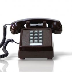 [코텔코] Made in USA 오리지널 빈티지 유선전화기 브라운