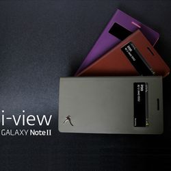 IROO 갤럭시노트2 Be-Gentle i-View 프리미엄 플립 아이뷰 가죽케이스 (10컬러)