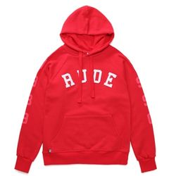 RUDE ARCH SWEAT HOODIE (RED)