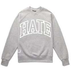 HATE RUDE SWEAT SHIRTS (GREY MELANGE)