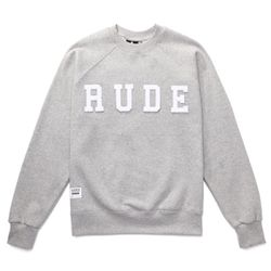 RUDE NOT BAD BOYS SWEAT SHIRTS (GREY MELANGE)