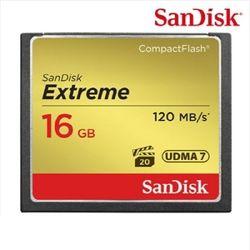 [샌디스크] Extreme CF 16GB 120MBs Full HD비디오 4K비디오캡쳐