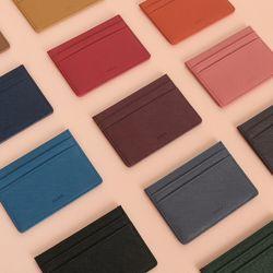 D.LAB Leather simple card wallet - 6 color
