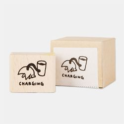 Snowcat WOOD STAMP-CHARGING