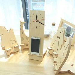 fm0036 - 일석이조 벽시계[자작나무 원목 인테리어벽시계] 펀펀가구