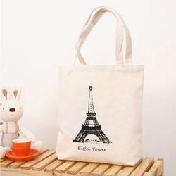에펠탑 캔버스 에코백