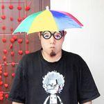 스투피드 우산모자 (색동)