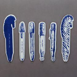 [클리어런스] Paper Ball Pen(blue) 6set