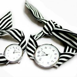 KNOT WATCH - STRIPE BLACK