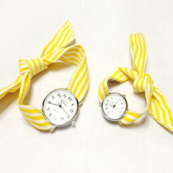 KNOT WATCH - STRIPE YELLOW