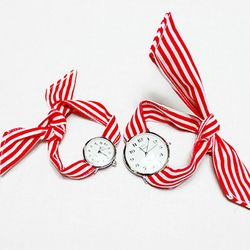 KNOT WATCH - STRIPE RED