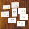 Calligraphy PostCard Set3. Happy