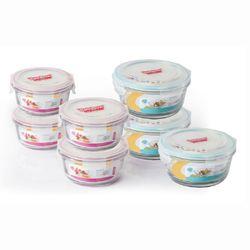 Rainbow 강화유리 밀폐용기-원형7조