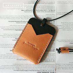 [천연소가죽] 아트리아 목걸이 카드지갑