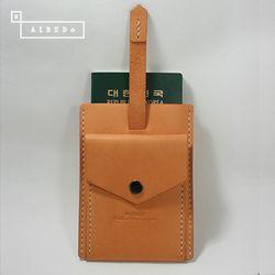 [천연소가죽] 슬라이드 디럭스 여권케이스