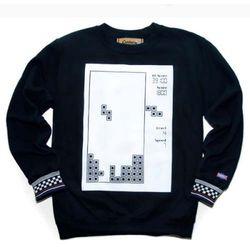 Block game sweat shirt-2(black)