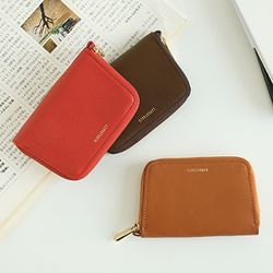 leather zipup card 3color