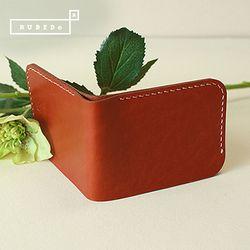 [천연소가죽] 슬림베이스 지갑 (오렌지브라운)