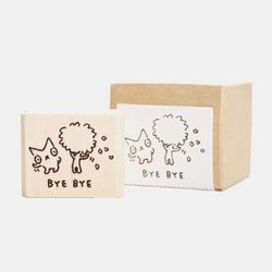 Snowcat WOOD STAMP-BYE BYE