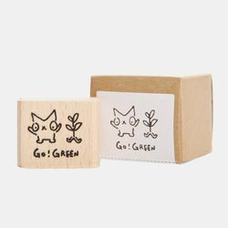 Snowcat WOOD STAMP-GO GREEN