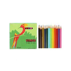 Box of 12 colors pencil protected Animals [Parrot]