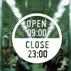[주문제작]영업시간안내(OPEN & CLOSE) NO 002 R Size