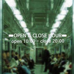 [주문제작]영업시간안내(OPEN & CLOSE) NO 005 R Size