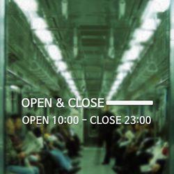 [주문제작]영업시간안내(OPEN & CLOSE) NO 007 R Size