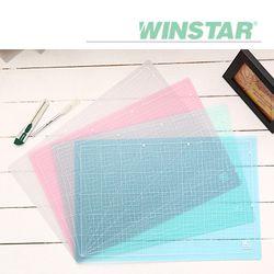 윈스타 PVC 반투명 데스크 커팅 매트 A3 450X300