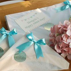 이니셜 자작나무 베이비 100일 선물세트