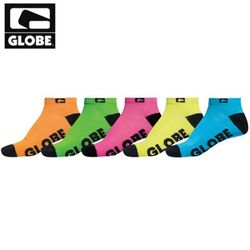 [GLOBE] NEON ANKLE SOCK 5 PACK (ASSORTED)