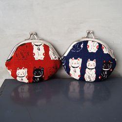 복주머니 고양이 동전지갑 - 2type